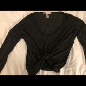 Tops - Charcoal grey long sleeve